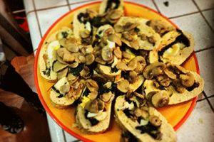Polpettone spinaci e funghi